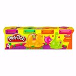 Пластилин Play-Doh Hasbro неоновые цвета 4 цвета - фото 39087